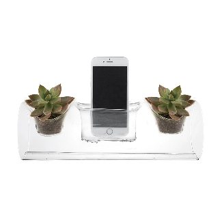 PLANT AMP GLASS PLANTER