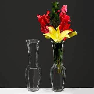 "GLASS 9"" X 2"" BUD VASE"
