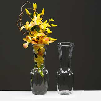 "GLASS 9"" X 2.5"" BUD VASE"