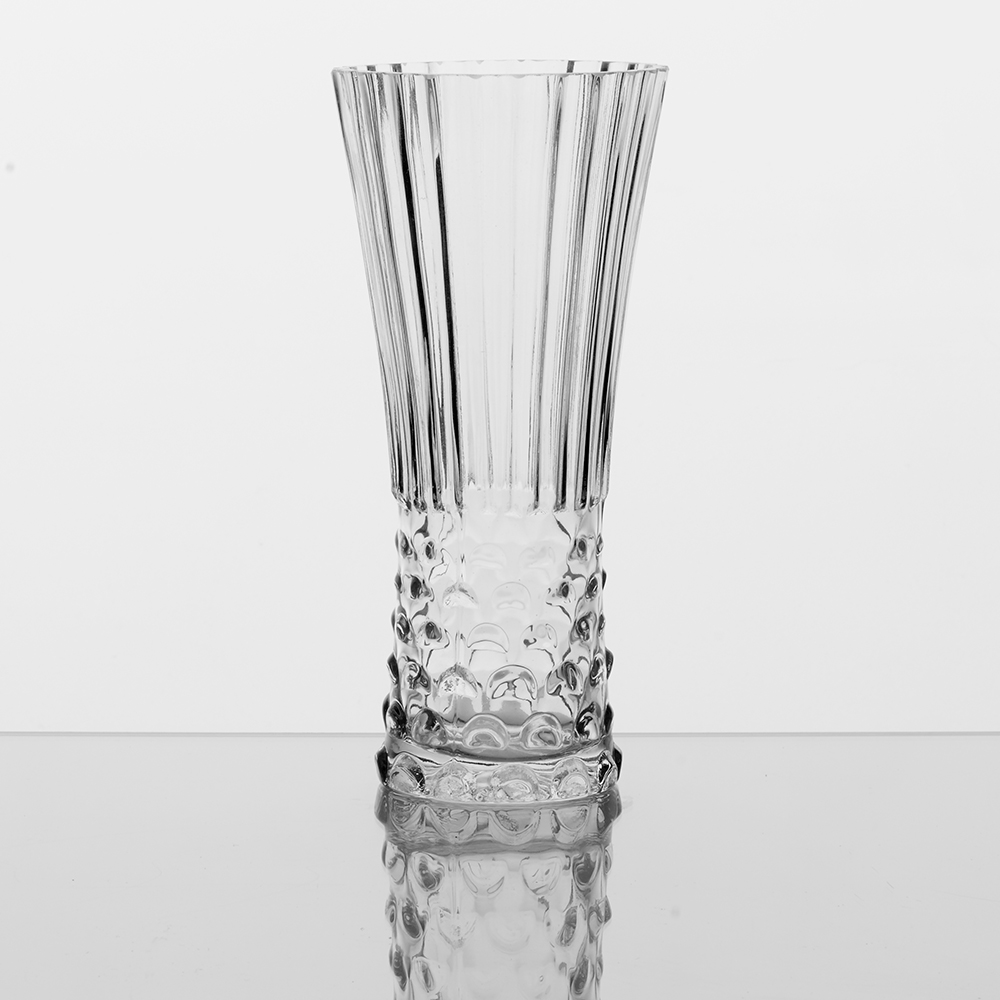 "GLASS 10"" VASE, CLEAR"
