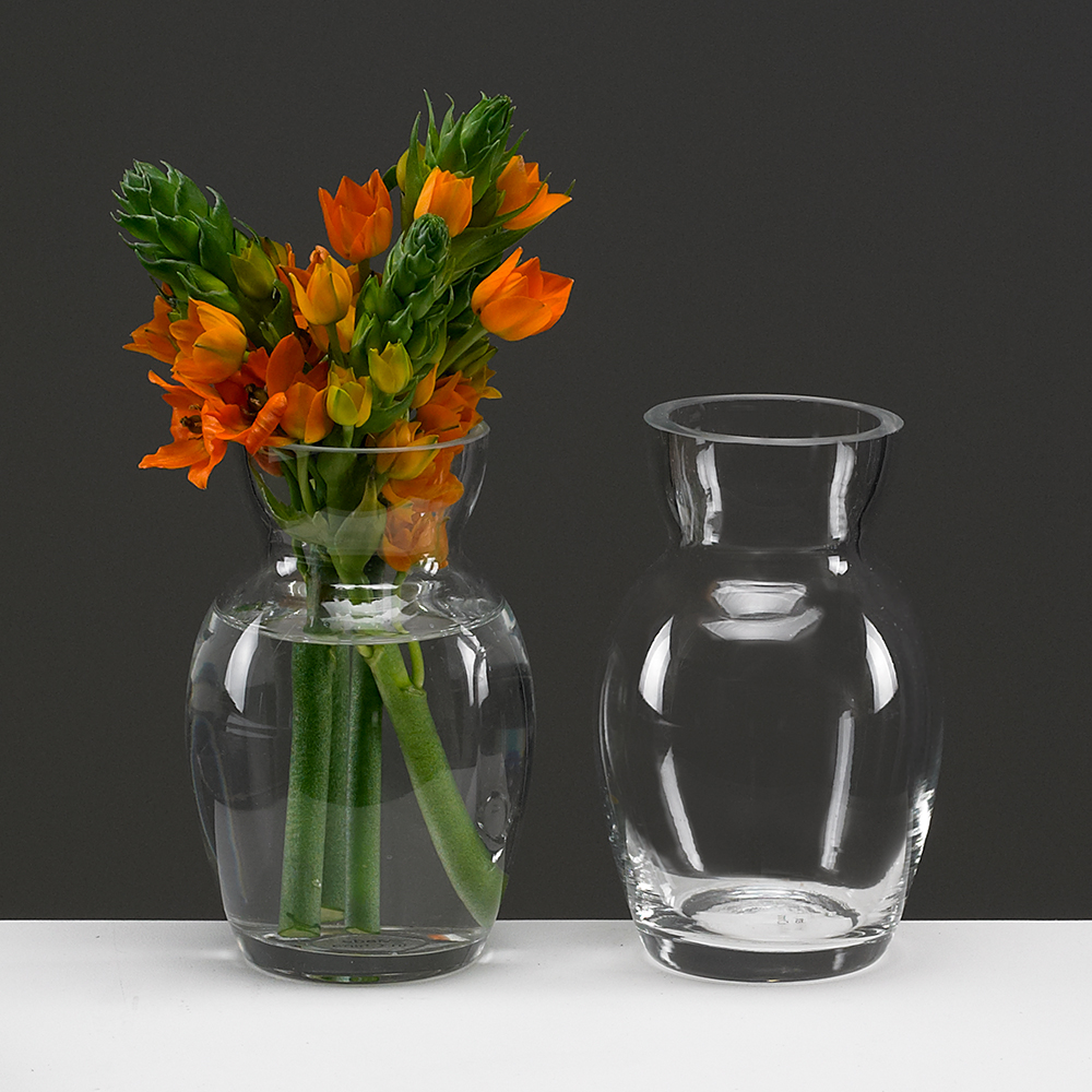 "GLASS   5.5"" VASE,CLEAR"