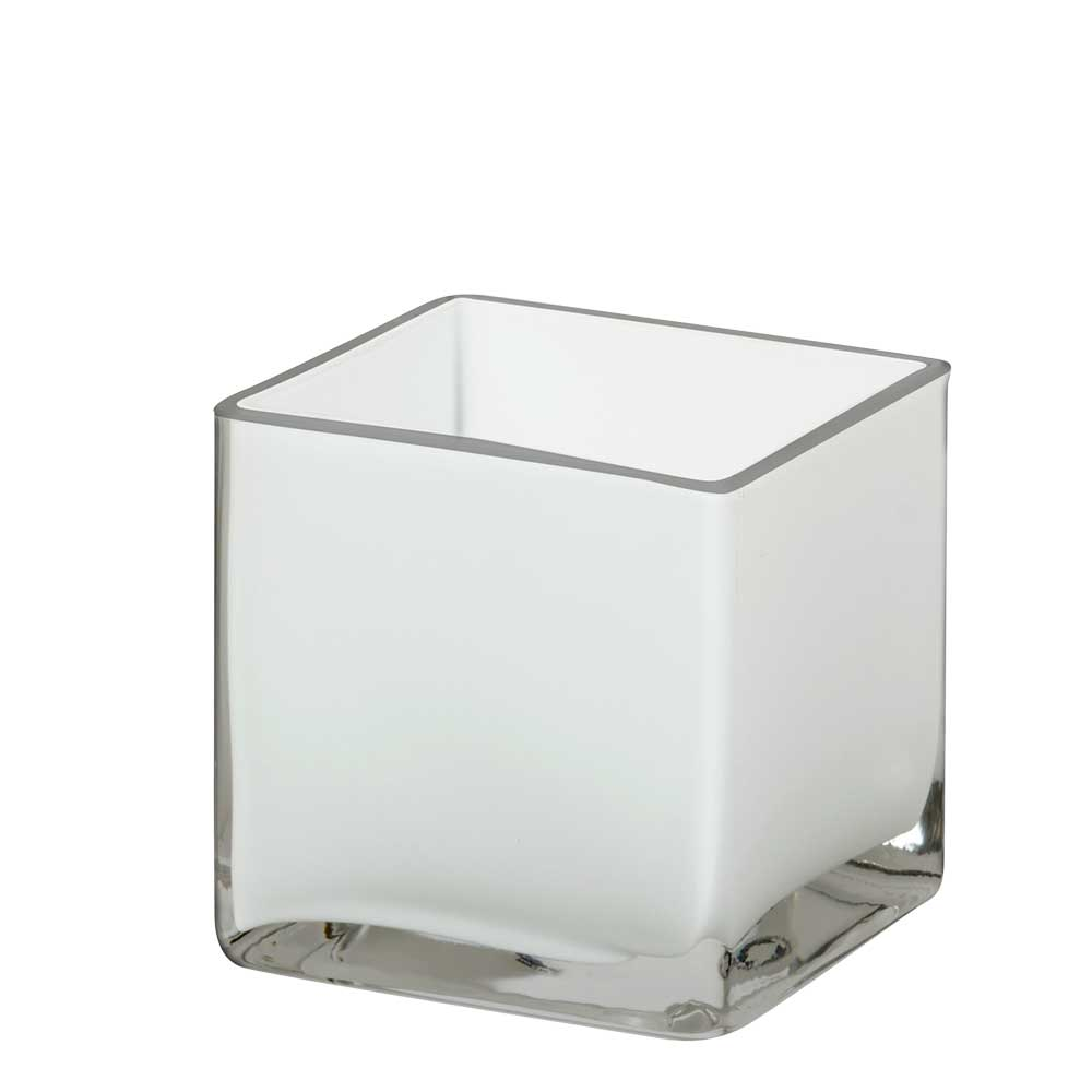Glass Vases, White