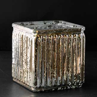 "GLASS   5X4"" MERCURY CUBE,GOLD"