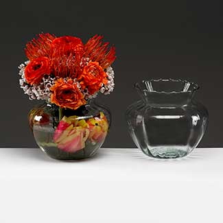"4.5"" RECYCLED GLASS VASE"
