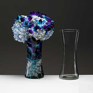 "12"" RECYCLED GLASS VASE"