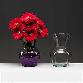 "8.5"" RECYCLED GLASS VASE"
