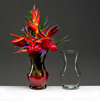 "10"" RECYCLED GLASS VASE"