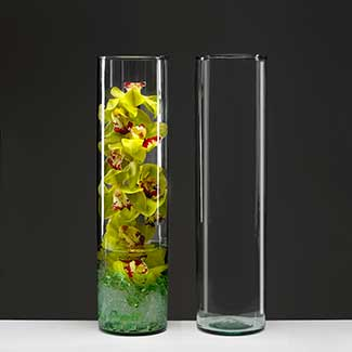 "19.5"" RECYCLED GLASS VASE"
