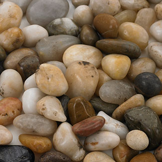 SMALL ASSORTED RIVER PEBBLES