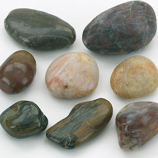 LARGE ASSORTED RIVER STONES