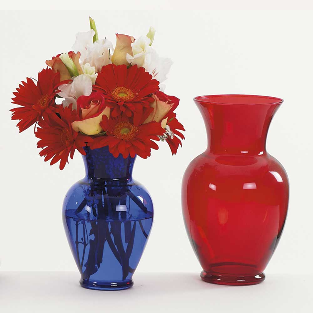 Glass Vases, Colored