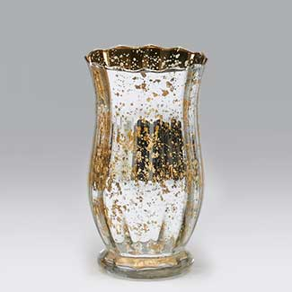Glass 7 75x4 Quot Silver Gold Vase Floral Supply Syndicate Floral Gift Basket And Decorative