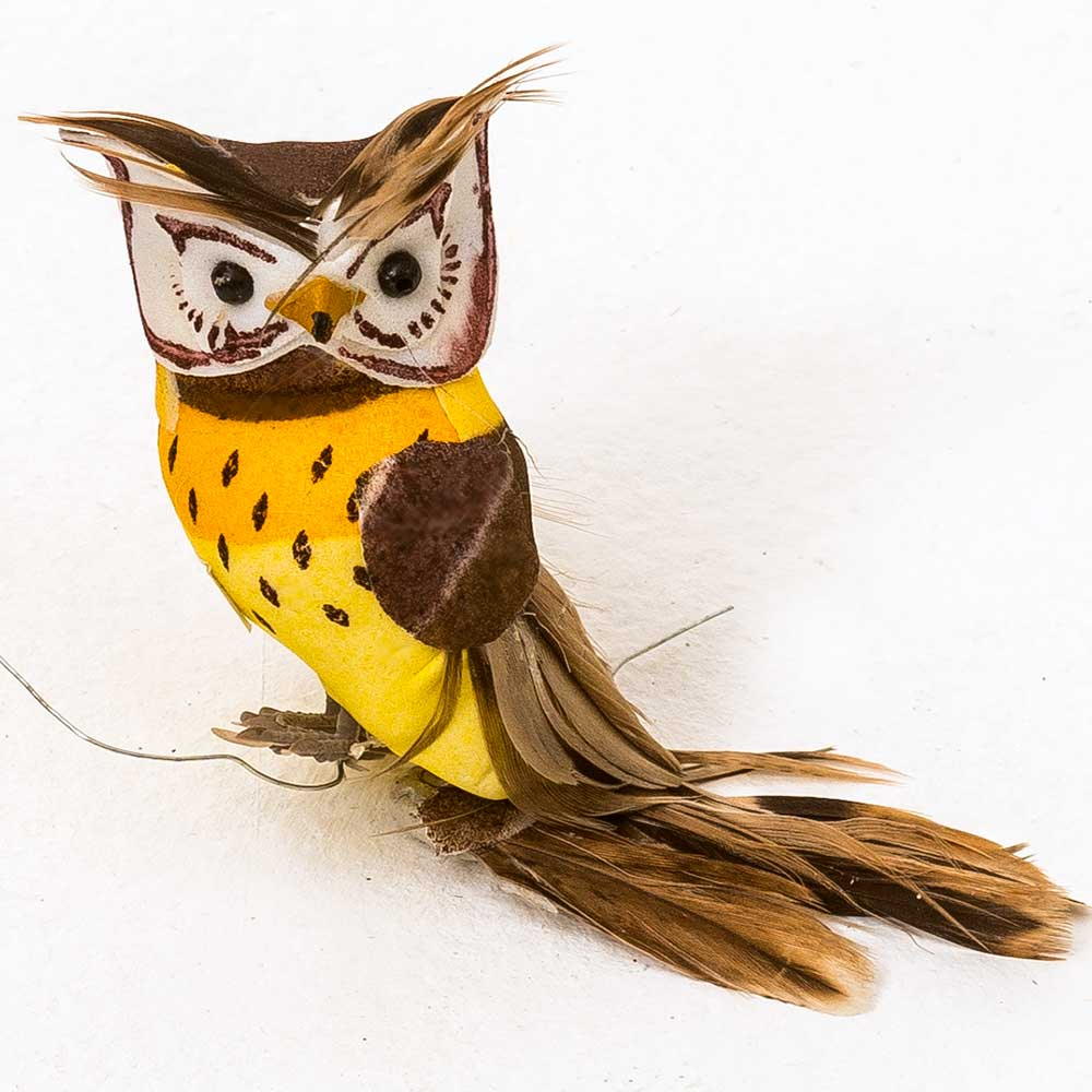 "3.5"" FEATHER OWLS"