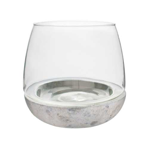 "6.75""X6"" CEMENT/GLASS TERRARIUM.      Fun, moder"