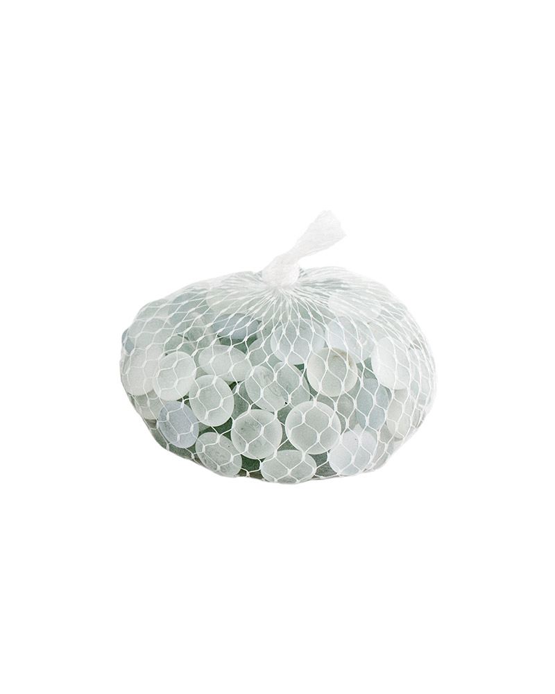 GLASS PEBBLES 2LB BAG FW 20/C,FROSTED