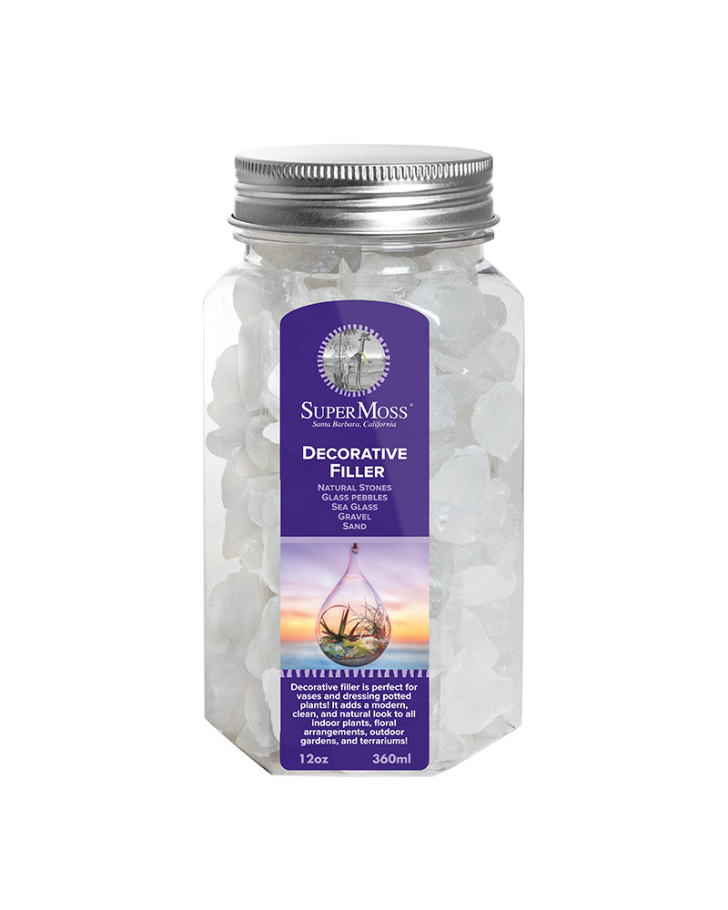 SEA GLASS 11OZ JAR FW,FROSTED WHITE