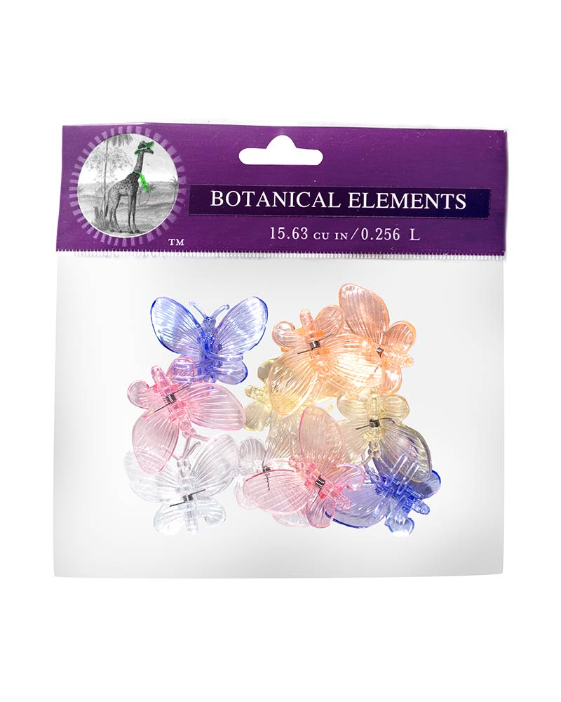 ORCHID CLIP BUTTERFLY 10PC 12