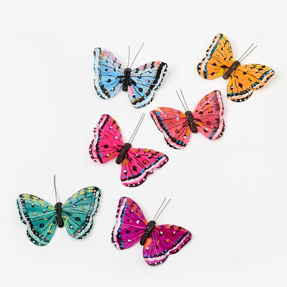 "4"" ASSORTED BUTTERFLIES"