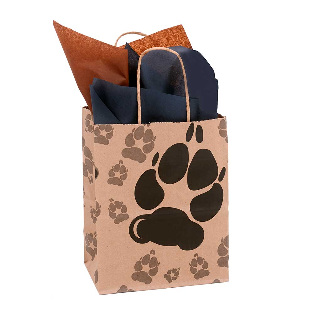 "10"" BAG, PAW PRINTS"