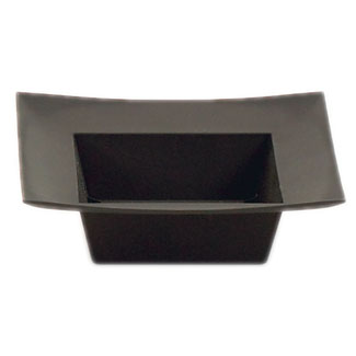 "5.5"" SQUARE BLACK DISH"