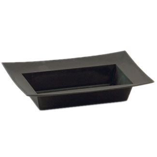 "9.5"" RECTANGLE BLACK DISH"