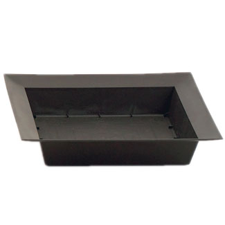 "10"" SQUARE BLACK DISH"