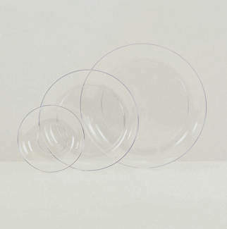 "15"" CLEAR PLASTIC DISHES"
