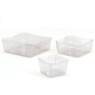 "9.25"" CLEAR SQUARE LINERS"