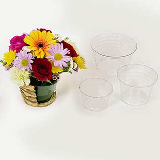 "6"" CLEAR PLASTIC LINERS"