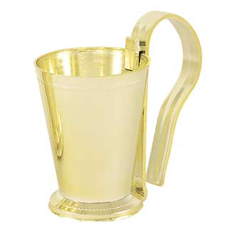 "4.25"" PEW CLIP WITH CUP, GOLD"