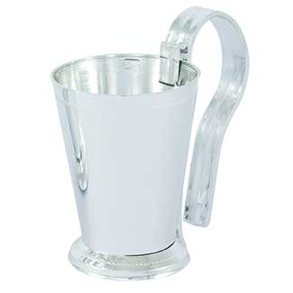"4.25"" PEW CLIP WITH CUP,SILVER"
