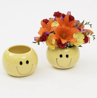 6 Quot Smiley Face Vase Floral Supply Syndicate Floral