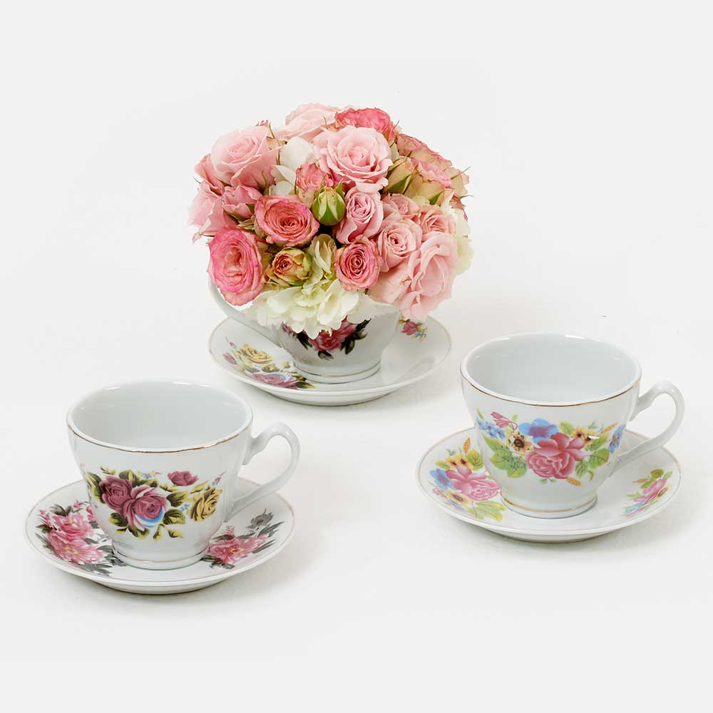 ASSORTED TEA CUP & SAUCER