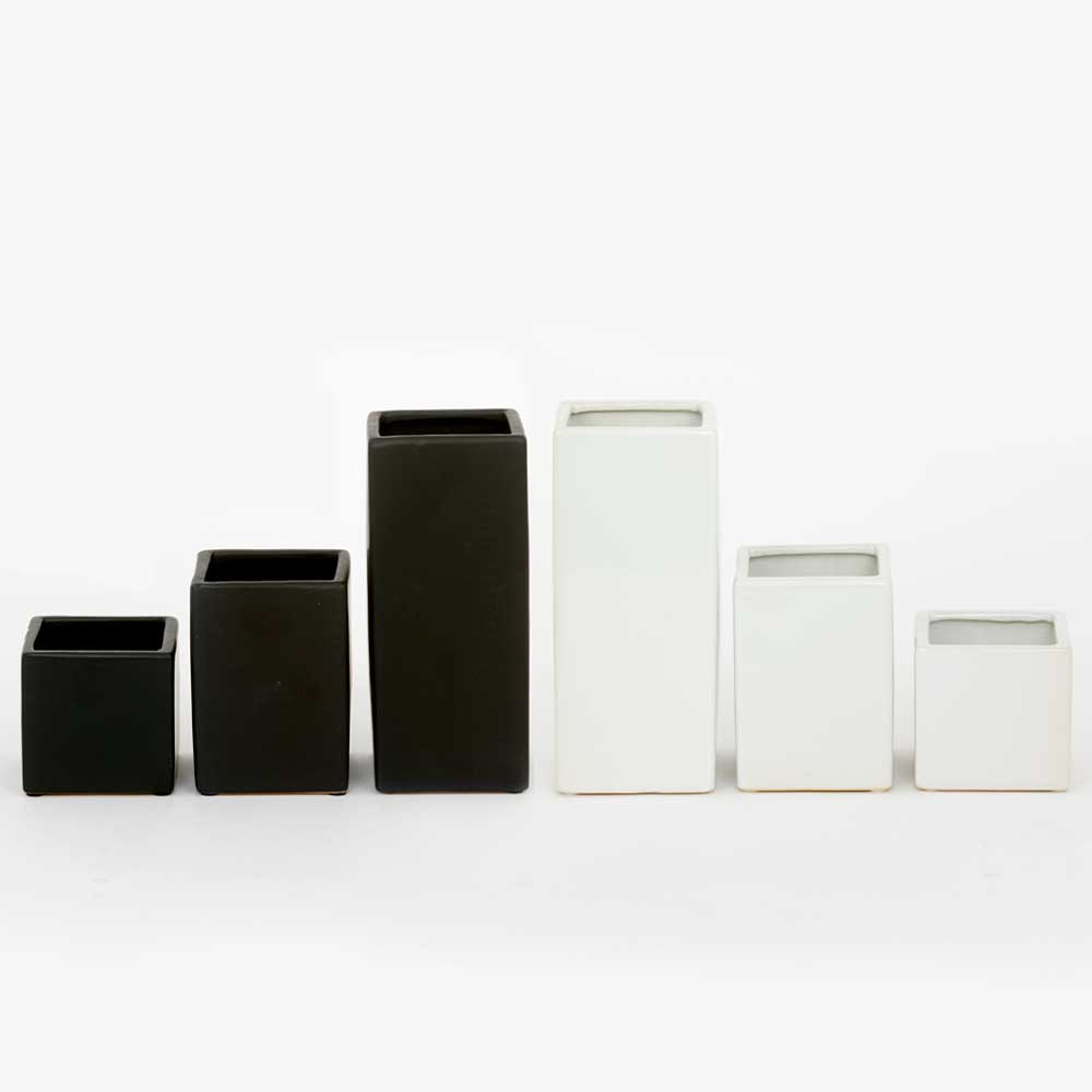 CERAMIC SQUARE VASE ASSORTMENT