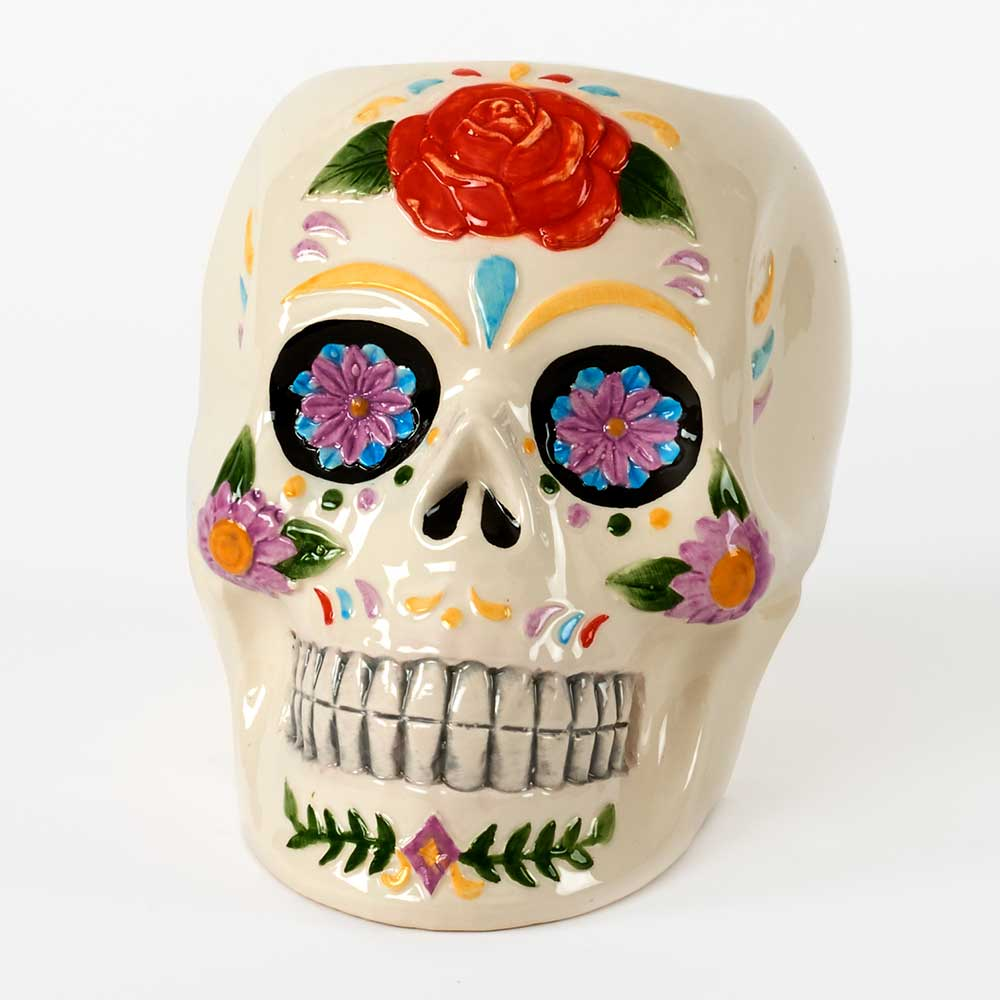 "5.5""COLORED CERAMIC SKULL"