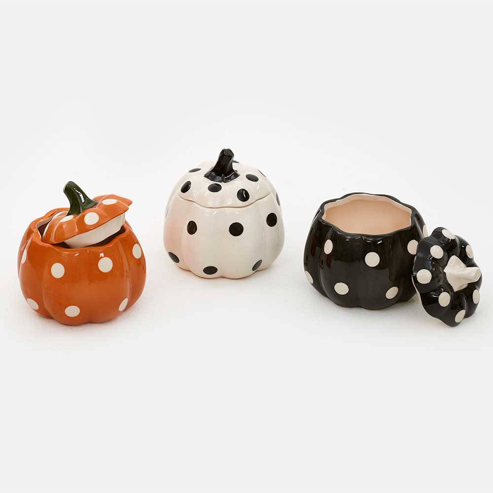 ASSORTED POLKA DOT PUMPKINS