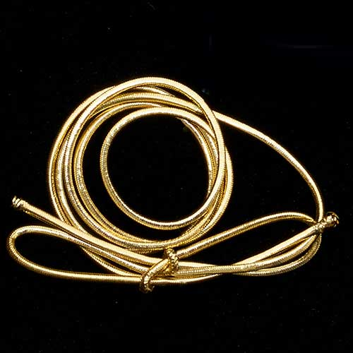 "16"" ELASTIC LOOPS,GOLD"