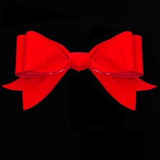 "4"" BRIGHT RED VELVET RIBBON"