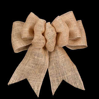 "4"" WIRED BURLAP,NATURAL RIBBON"