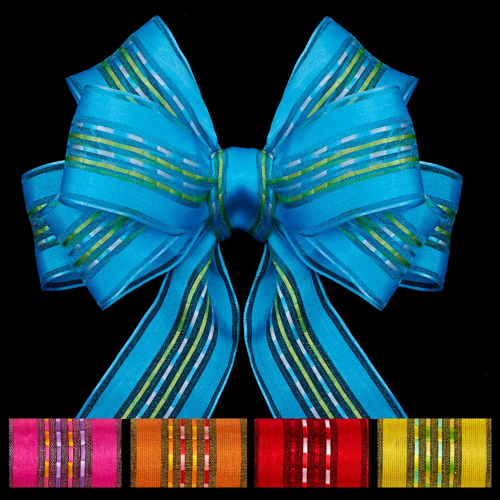 "1 3/8"" WIRED SHEER CELEBRATION RIBBON"
