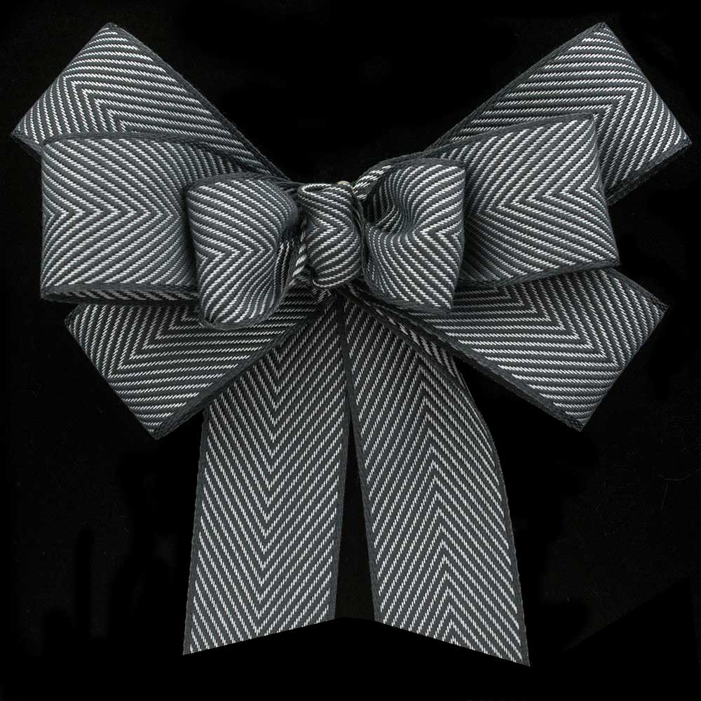 "1 3/8"" UNWIRED HERRINGBONE RIBBON"