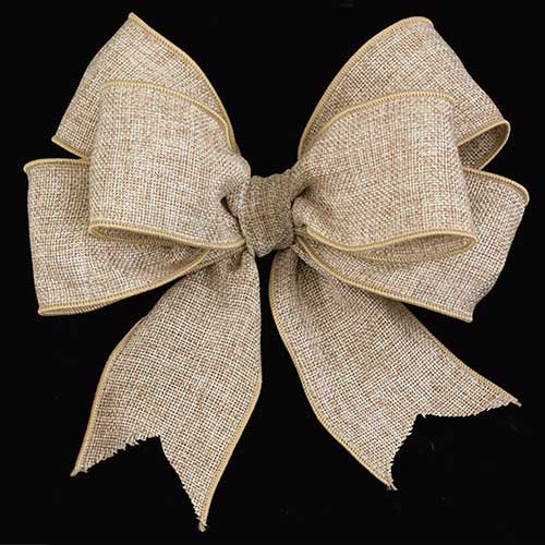 "4"" WIRED BURLAP RIBBON"