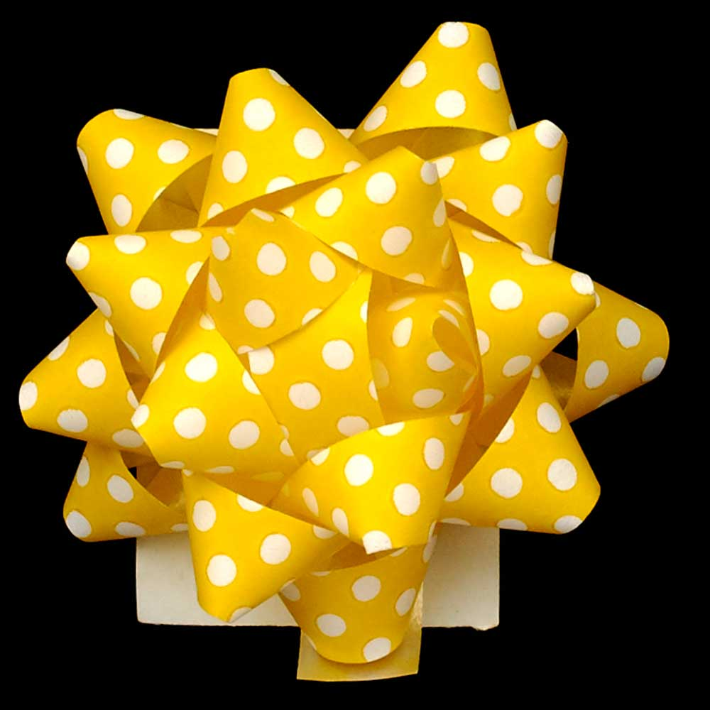 "2"" STAR BOWS,YELLOW"