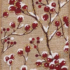 "2 1/2"" WIRED COUNTRY CHRISTMAS,       BERRIES"