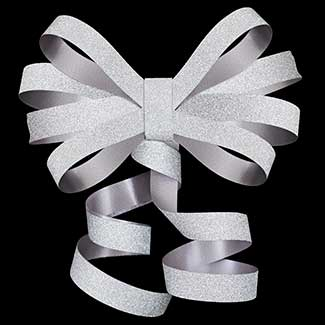 "3/8"" POLY GLITTER RIBBON"