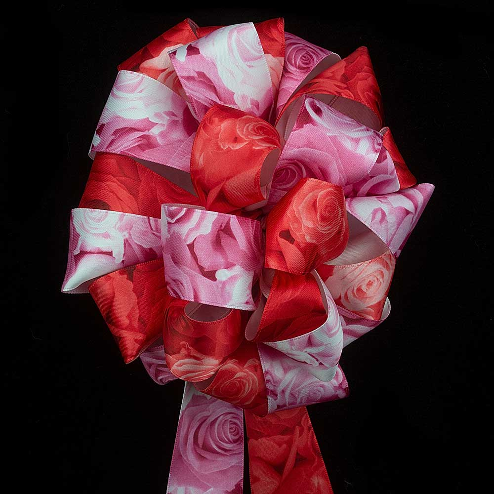 "1 3/8"" SATIN ROSES RIBBON"