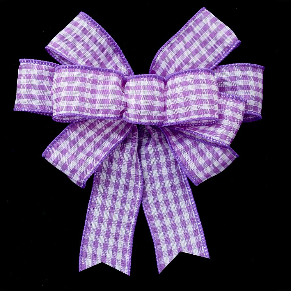"1 3/8"" WIRED VINTAGE CHECK RIBBON"