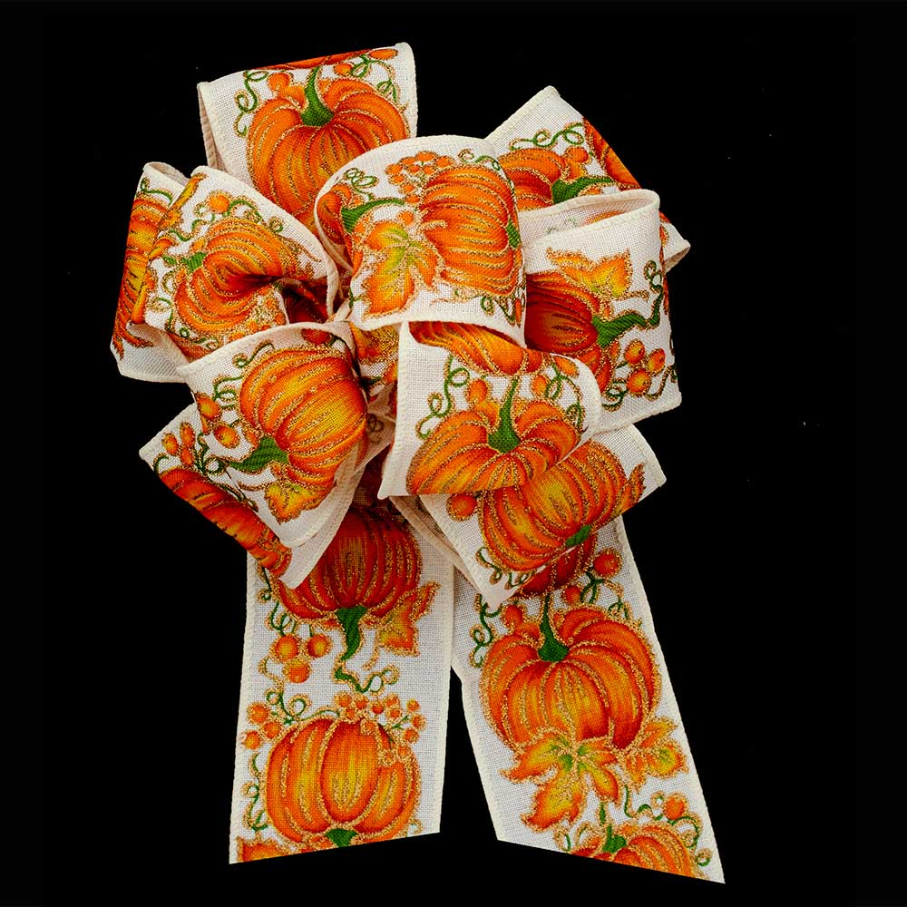 "2 1/2"" WIRED AUTUMN RIBBON"
