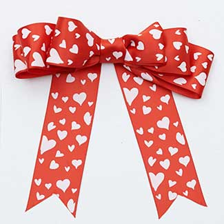 "1 3/8"" SATIN HEARTS RIBBON"