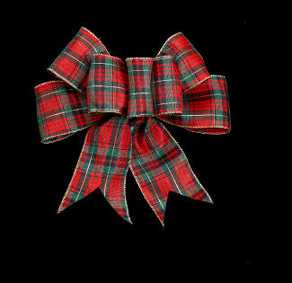 "2 1/2"" WIRED PLAID RIBBON"